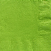 Lime Green Dinner Napkins - 2ply Paper - 20 Pack