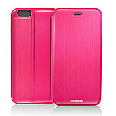 CaseBase Flip Folio Case for Apple iPhone 6 Plus and Iphone 6s Plus - Pink