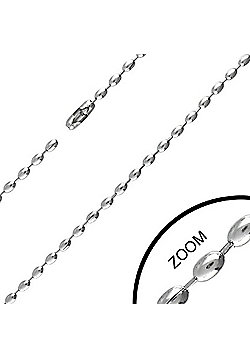 Urban Male Modern Stainless Steel Chain 2.4mm Wide & 16in Long