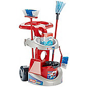 Vileda cleaning trolley with accessories