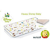 Disney Baby Cot/Cotbed Mattress/Winnie the Pooh Quilted Cover - Natural LATEX 7cm