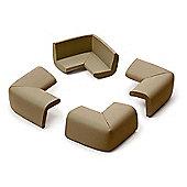 Prince Lionheart Cushiony Corner Cushion Guards - Chocolate (4 Pack)