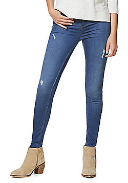 F&F Contour High Rise Skinny Jeans with LYCRA® BEAUTY - Mid wash