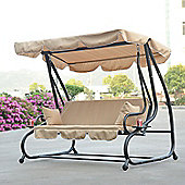 Outsunny 3 Seat Garde Swing Chair with 2 Pillows