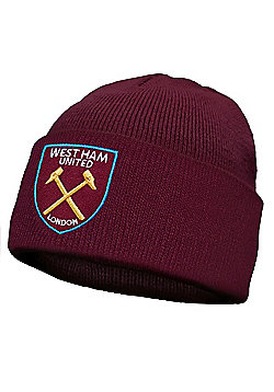 West Ham United FC Kids Knitted Hat - Claret