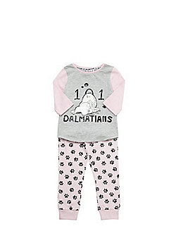 Disney 101 Dalmatians Sequin Pyjamas - Pink & Grey