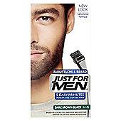 Just For Men Brush In Colour Gel for Moustache, Beard & Sideburns - Dark Brown Black
