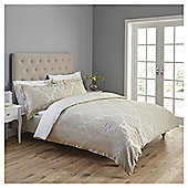 Fox & Ivy  Damask Jaquard Super King Duvet Set - Cream