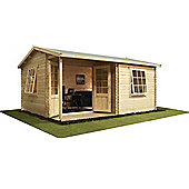 Home Office Executive Double Glazed Wooden Log Cabin, 44mm, 16x13ft