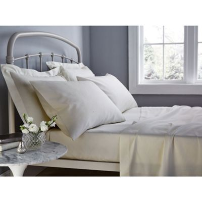 Catherine Lansfield 500 Thread Count Natural Flat Sheet - Single