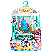 Little Live Pets Bird with Cage S5 - Rainbow Ricki (Blue)