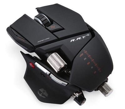 Mad Catz 6400dpi R.A.T. 9 Cyborg Wireless Gaming Mouse Black