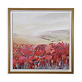 Sunset Poppies Capped Canvas 60cm x 60cm
