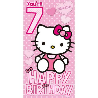 Buy Hello Kitty 7th Birthday Card From Our Gift Wrap Range Tesco