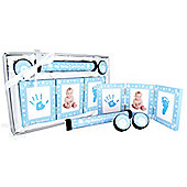 BabyRice - New Baby 4 Piece Gift Set - A Collection of First - Blue & White