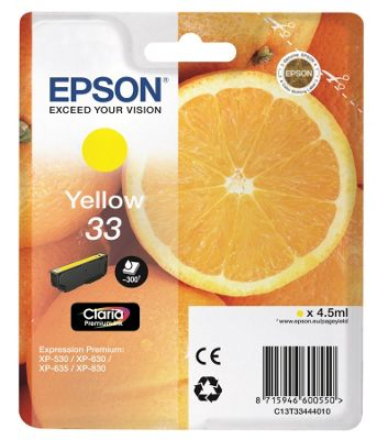 Epson 33 Yellow Ink Cartridge