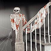 Bloody White Gauze Drape - 4.5m Halloween Decoration