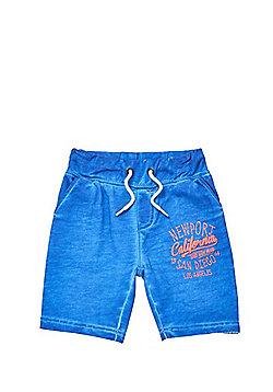 Minoti Newport California Sweat Shorts - Blue
