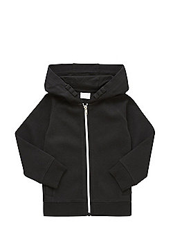 F&F Pique Zip-Through Hoodie - Black
