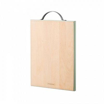 Typhoon Vintage Americana Chopping Board, Beech Wood Material, Steel Handle Medium (Beige)