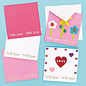 Kids Crafts 'With Love' Message Cards (Pack Of 6)