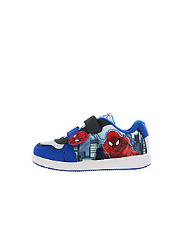 Spiderman Blue and White Canvas Skate Trainers UK Various Sizes - Blue
