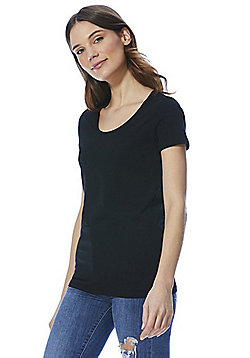 F&F Short Sleeve T-Shirt with As New Technology - Black