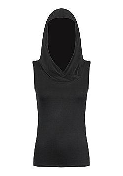 Spiral Gothic Elegance Hood Women's Hoodie, Black - Black