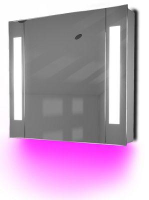 Ambient Demist Bathroom Cabinet With Sensor & Internal Shaver Socket K64P
