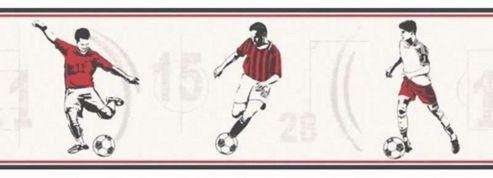 Red Footballer Wallpaper Border