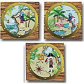 Pirates Ahoy Canvas Art - Set of 3