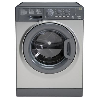 Hotpoint WMYL6351G Washing Machine, 6kg Wash Load, 1350 RPM Spin, A+ Energy Rating. Graphite