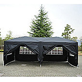 Outsunny 6 x 3 m Garden Gazebo Waterproof + Carrying Bag (Black)