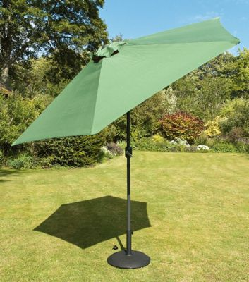 Europa Leisure Tuscany Parasol in Green - 230 cm