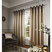 Catherine Lansfield Chicago Eyelet Curtains - Natural
