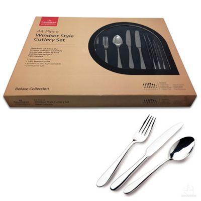 Grunwerg Windsor Cutlery Set, 44 Piece