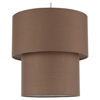 Tesco Lighting Double Drum Shade Taupe