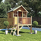BillyOh Bunny Max Tower Children's Wooden Playhouse, 4ft x 4ft