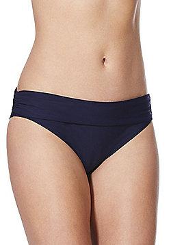 F&F Shaping Swimwear Fold-Over Bikini Briefs - Navy