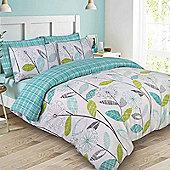 Dreamscene Duvet Cover Set, Allium Floral - Green