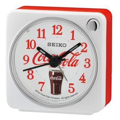 Seiko QHE905W Coca-Cola Beep Alarm Clock│Arabic Numerals│Snooze│Light│White│