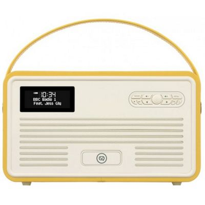 VQ Retro MK II DAB/DAB+/FM/Bluetooth Radio with Apple Lightning Dock (Mustard)