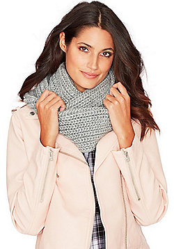 F&F Chunky Knit Snood - Grey