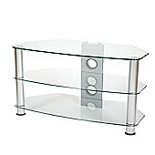 ValuFurniture Brisa 800mm Clear Glass TV Stand for up to 42 inch