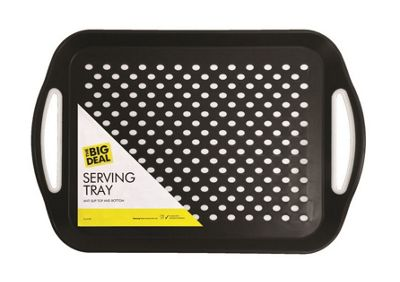 Rectangular Non-Slip Serving Dinner Tray - Colour May Vary