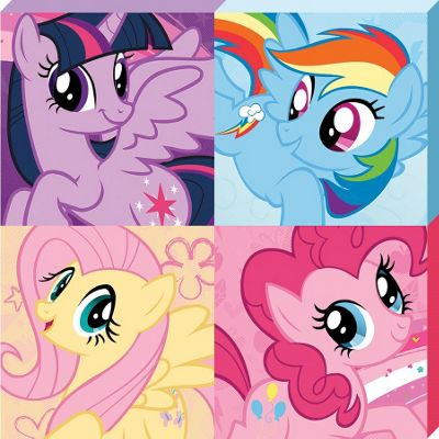 My Little Pony Squares Canvas Print 40x40cm