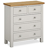 Farrow Painted 2 over 3 Drawer Chest - Matt Stone Grey