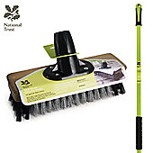 """Charles Bentley National Trust Garden 9"""" Wire Broom With Pvc Patio Brush With Handle"""