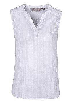 Mountain Warehouse Womens Petra Sleeveless Shirt w/ Breathable & Washable Fabric - White