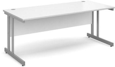 DSK Momento 1800mm Straight Desk - White